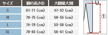 男性用レッグカバーサイズ表></p>