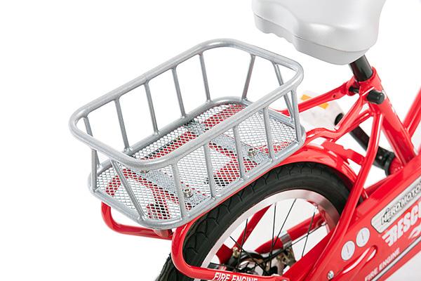 しょうぼうしゃ 消防車 160-J 16インチ 子供用 ヒーローモーターズ 働く車 緊急車両 自転車