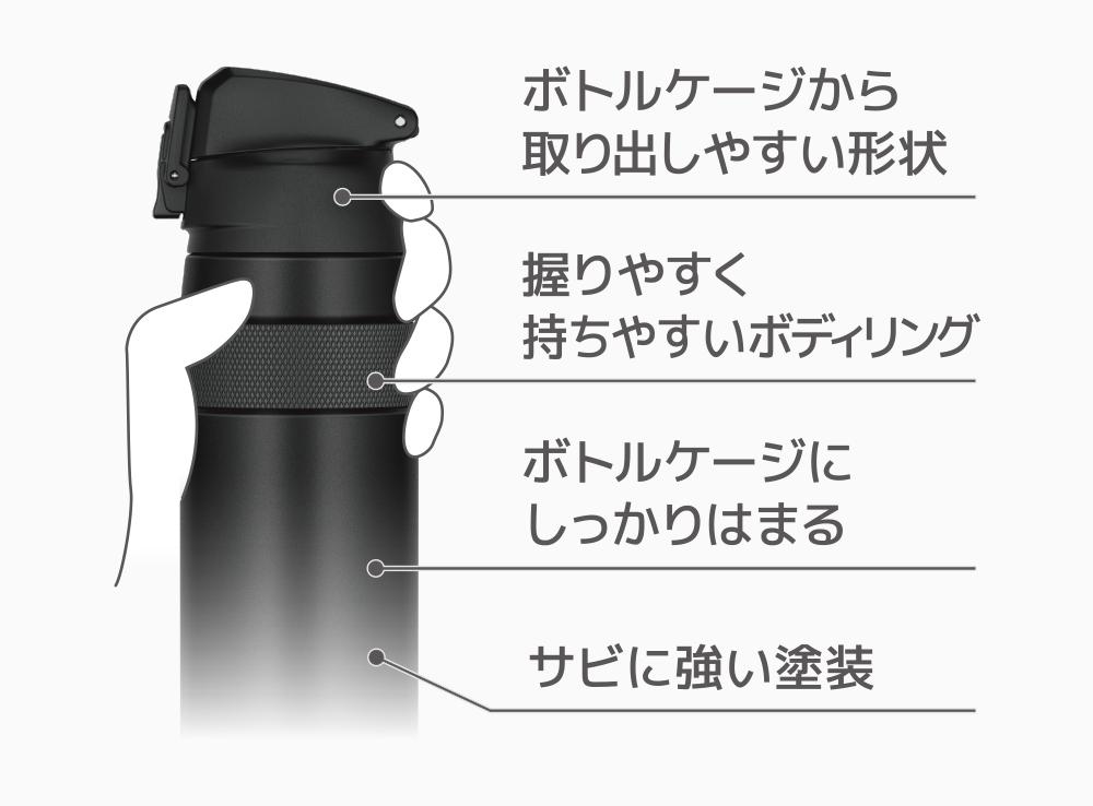 FJF-580 真空断熱ケータイマグ ステンレス 自転車専用設計 容量:0.6L