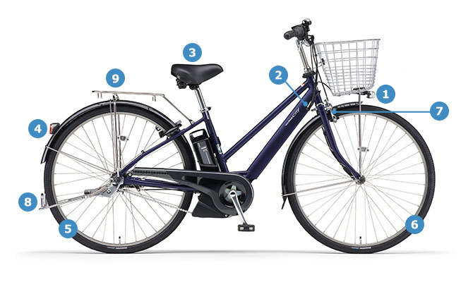 2021 PAS CITY- SP5(パス シティ エスピーファイブ)「PA27CSP5」27インチ 5段変速 電動自転車
