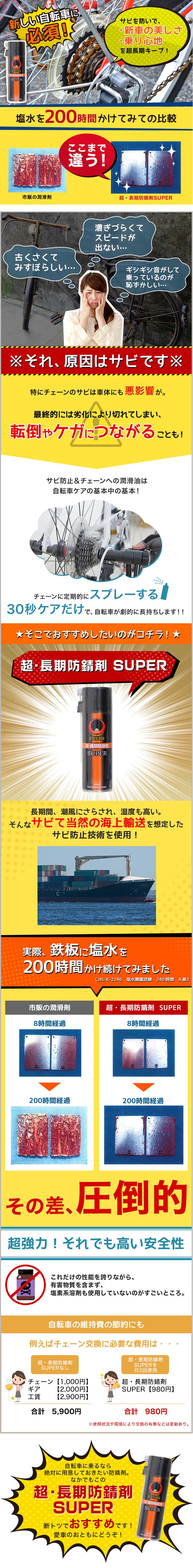 超・長期防錆剤 SUPER 強力錆止め・潤滑剤