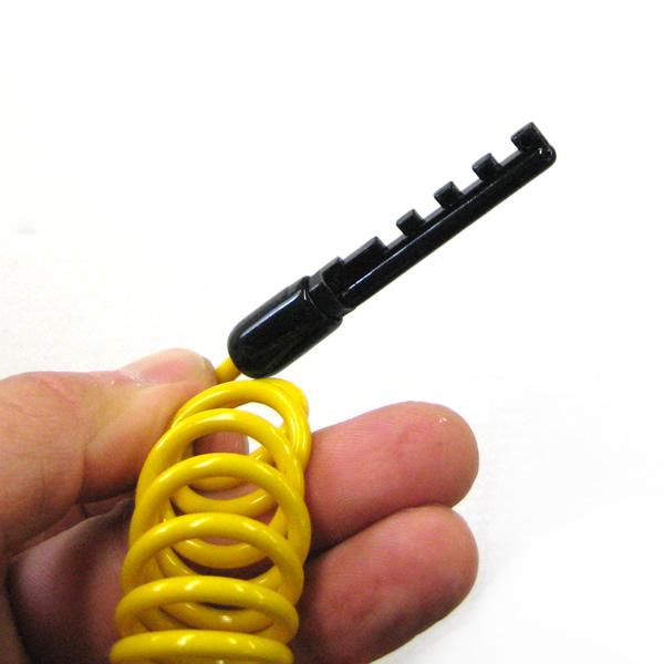 ロックスター 3.2x1650mm 暗証番号式 携帯性の高いコイルワイヤー錠