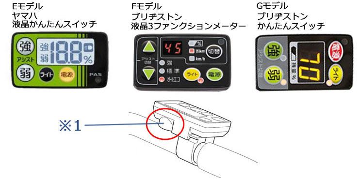 電動アシスト自転車用スイッチカバー ESC-05YA(ヤマハ 2017年-対応)