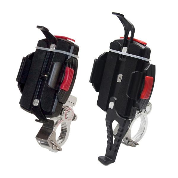 ミノウラ[MINOURA] iH-220-M スマートフォン(スマホ)ホルダー 対応バー径:28.6-35.0mm ワンタッチ式バンド バッグ類