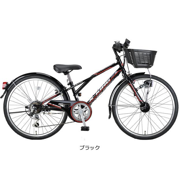 キャプテンスタッグ[CAPTAINSTAG] エックスキングCTB246 24インチ 6段変速 オートライト 子供用 自転車 ジュニアスポーツ車