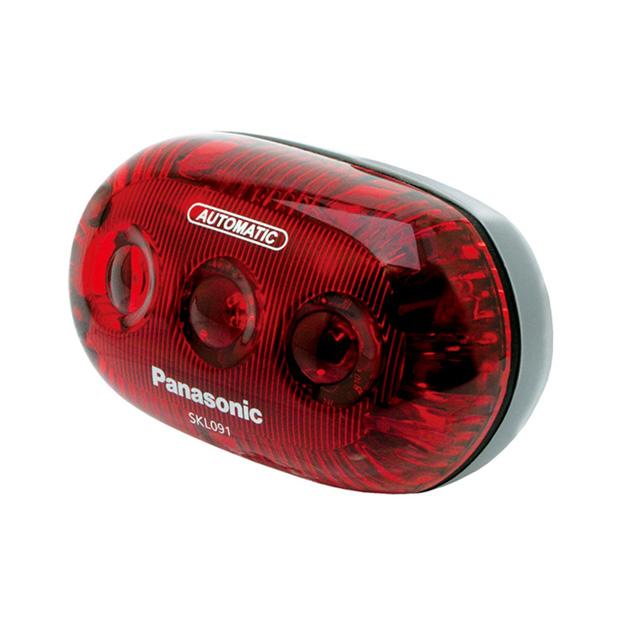 パナソニック[PANASONIC] LEDかしこいテールライト「SKL091」 乾電池式 子供乗せ、リヤバスケット取付け専用テールライト ライト/反射材