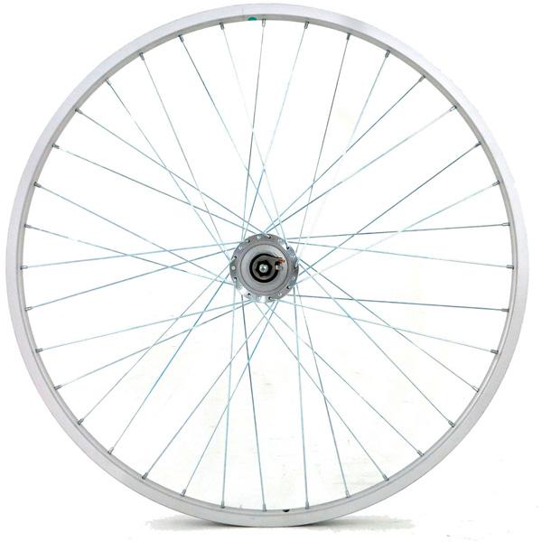 アサヒサイクル[ASAHICYCLE] アルミリム前輪 ハブダイナモ LEDライト付 タイヤチューブ無 26x1-3/8 ホイール/ハブ/リム